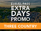 Eurail Extra Days Promo: Three Country Pass