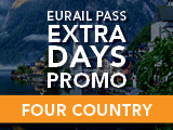 Eurail Extra Days Promo: Four Country Pass