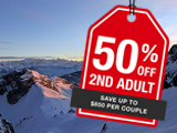 Switzerland package: 2ND Adult 50% off